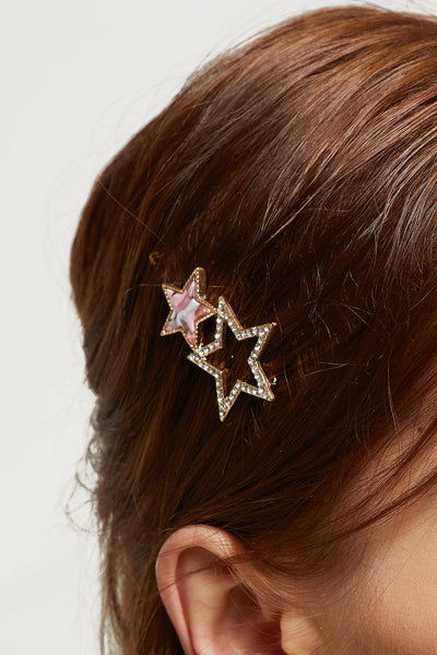 Stone Studded Stars Hair Pin by STORETS