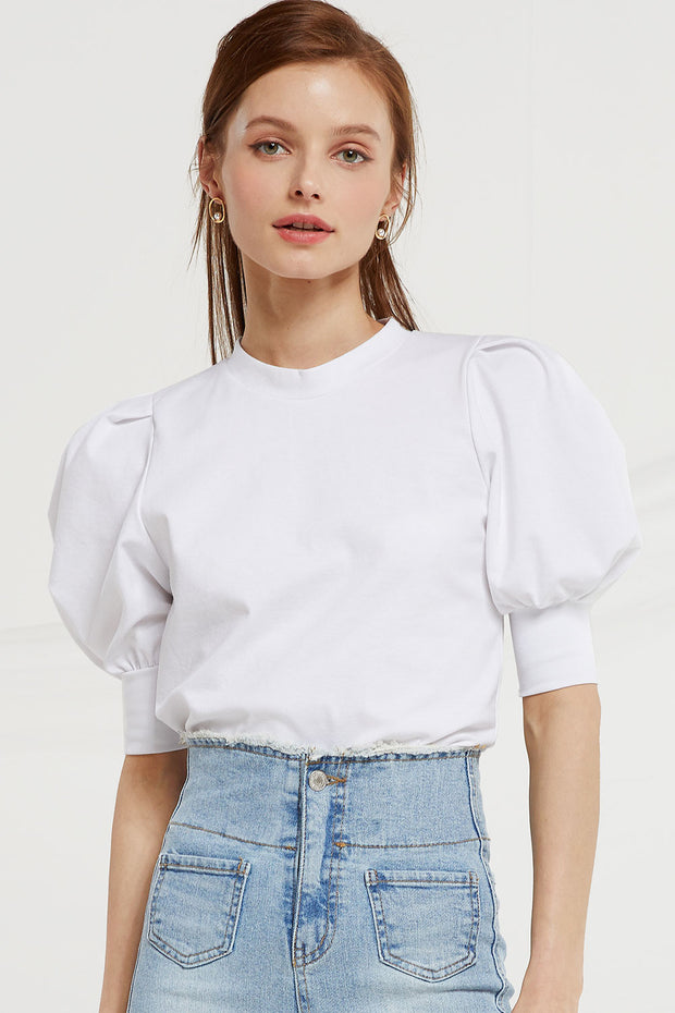 Holly Half Puff Sleeve Top by STORETS