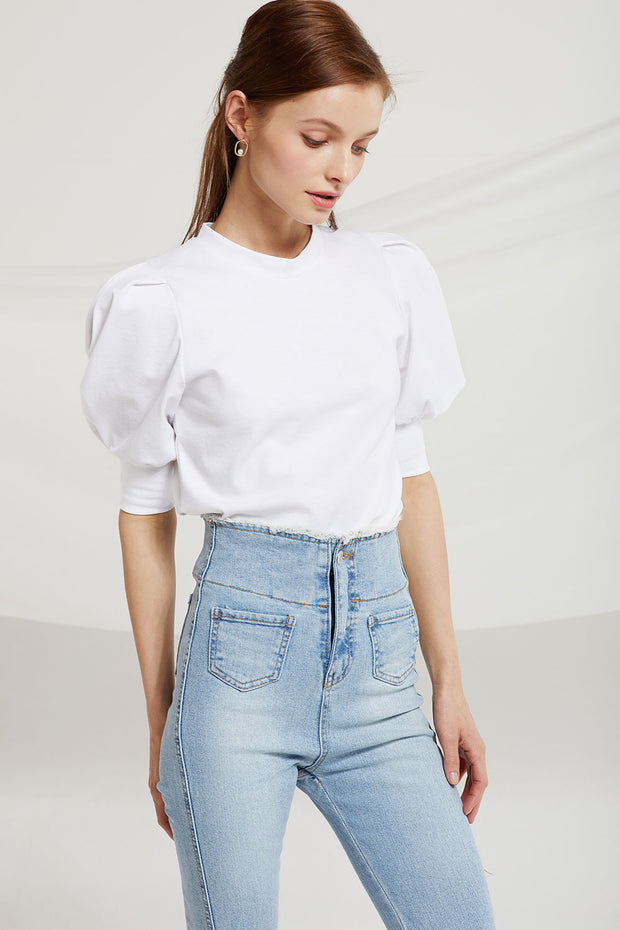storets.com Holly Half Puff Sleeve Top