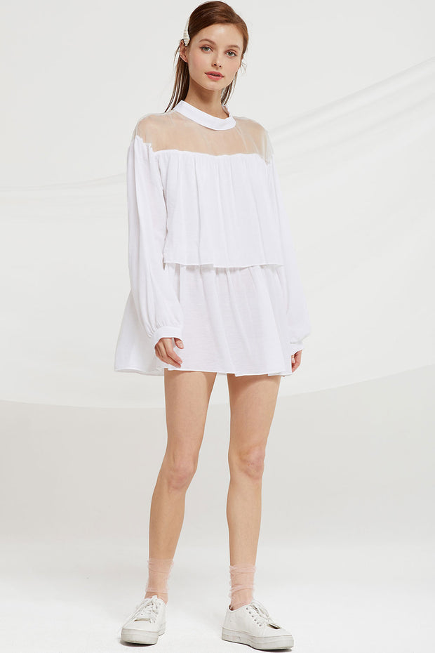 Annabella Tiered Ruffle Top