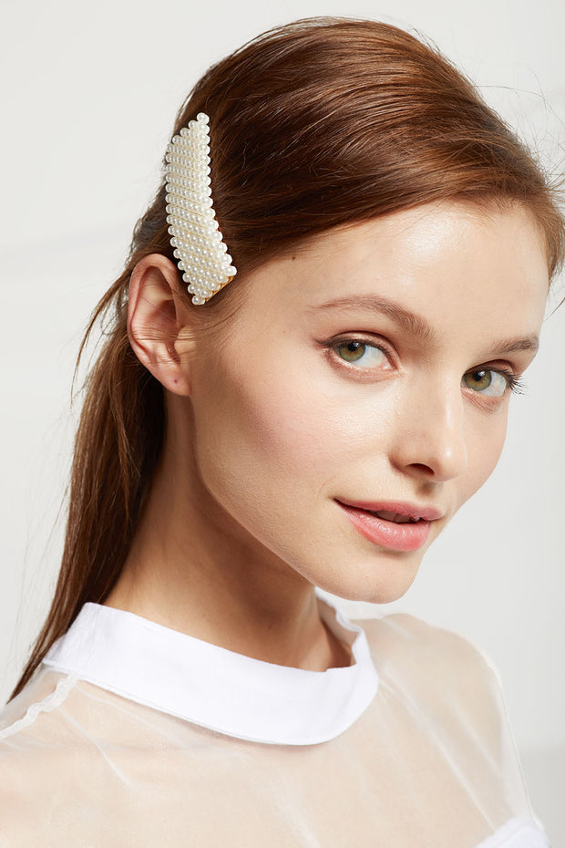 storets.com Square Beaded Pearl Hair Clip