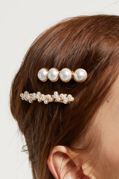 Pearl Fruit Twig Hair Pin Set by STORETS