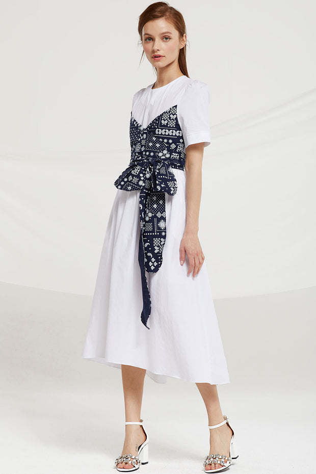 Ryann Bandana Sash Dress
