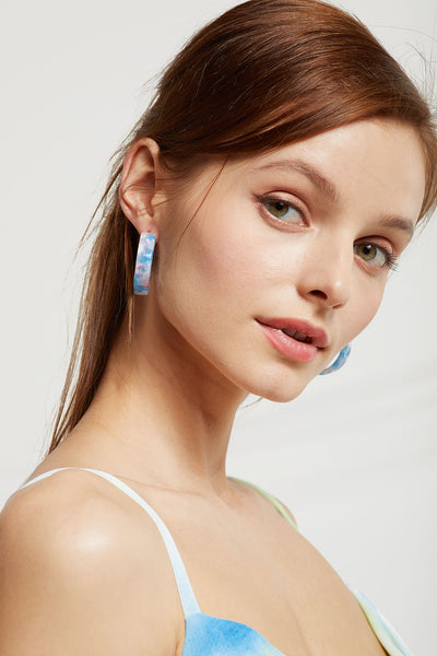Pastel Tie Dye Hoop Earrings by STORETS
