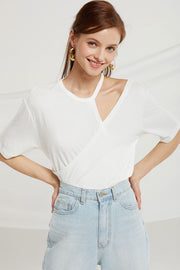 Aviana Choker Neck Wrap T-shirt