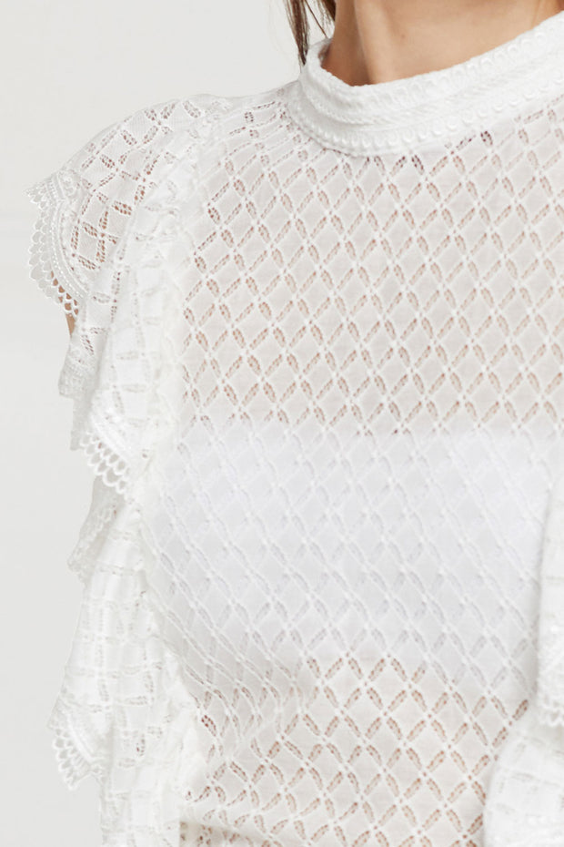 Lilith Open Back Tie Lace Top