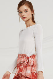 storets.com Airelle Sheer Boat Neck Top