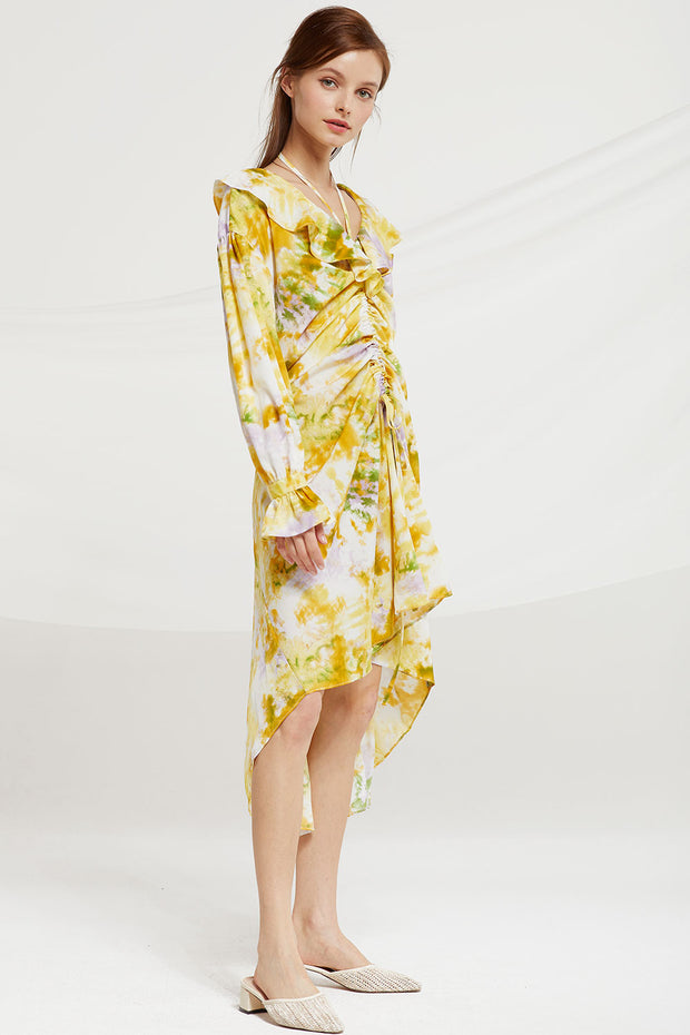 Charlotte Watercolor Floral Dress