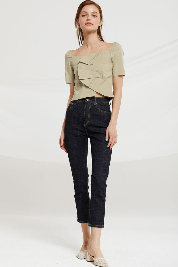 Carly Wrap Front Crop Top