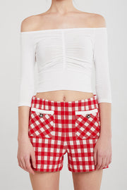 Ellie Ruched Front Cropped Top