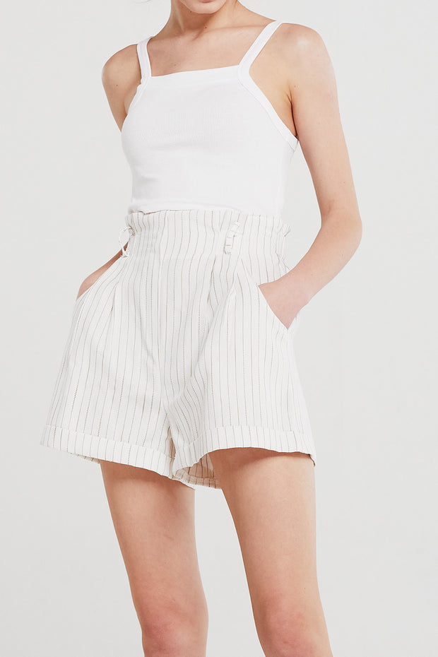 Sophie Striped Linen Shorts