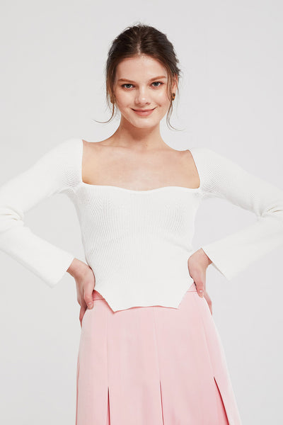 storets.com Clara Bustier Ribbed Knit Top