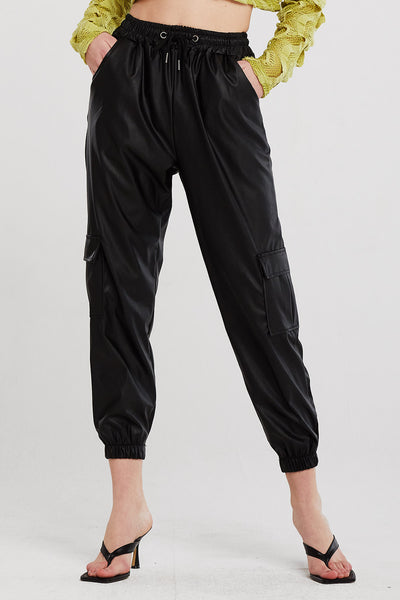 Emery Pleather Joggers