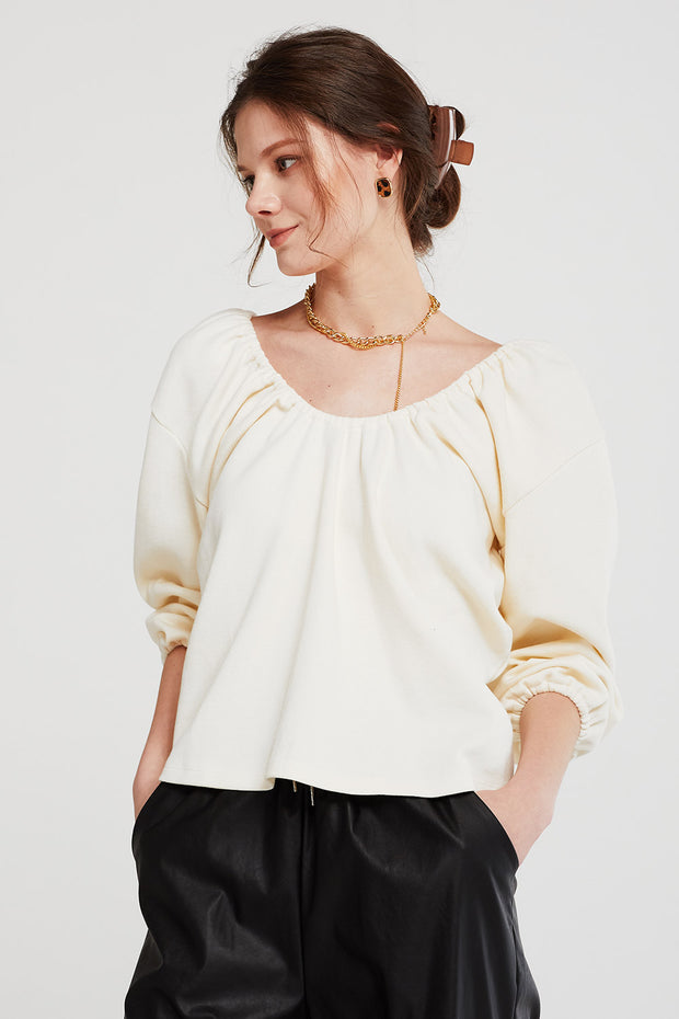 storets.com Claire Bar-Back Balloon Top