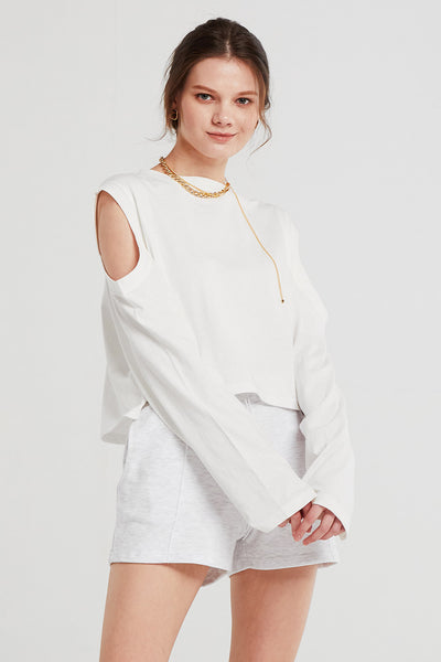 Leah Cutout Sleeve T-shirt