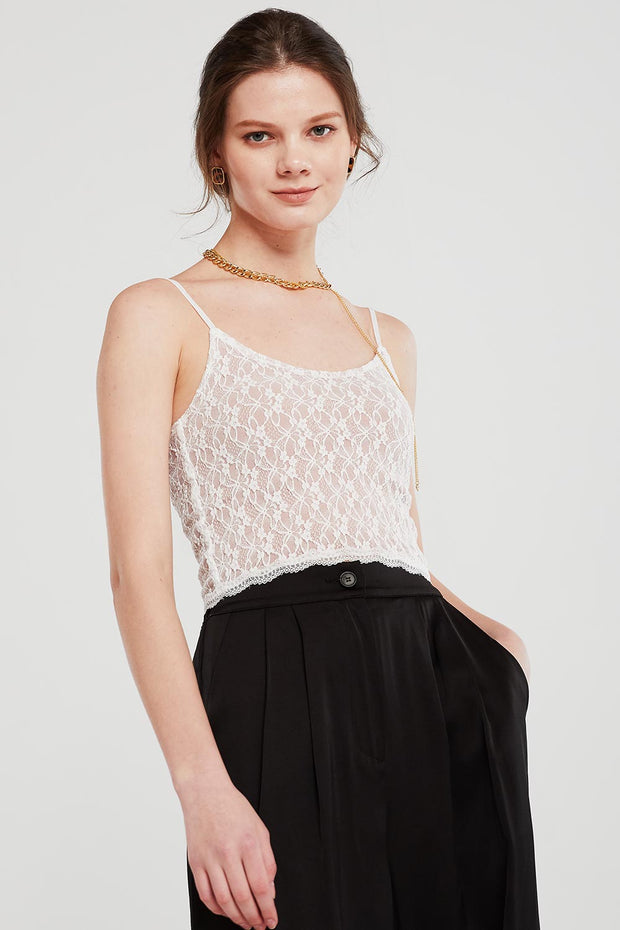 storets.com Rose Lace Cami Top