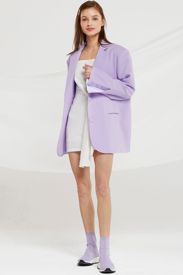 Siena Boyfriend Blazer in Candy Color