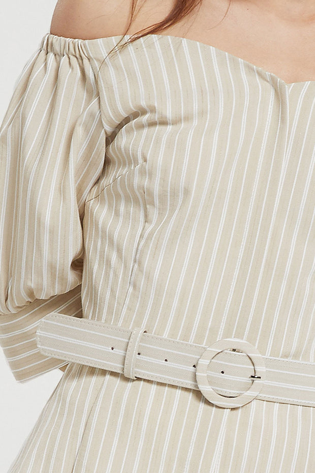 Celeste Belted Off Shoulder Top