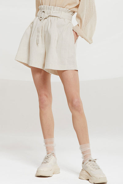 Julie Linen Paperbag Shorts