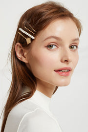 Gold Rhombus Hair Pin Set by STORETS