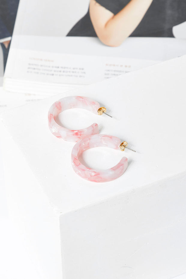 Pastel Tie Dye Hoop Earrings