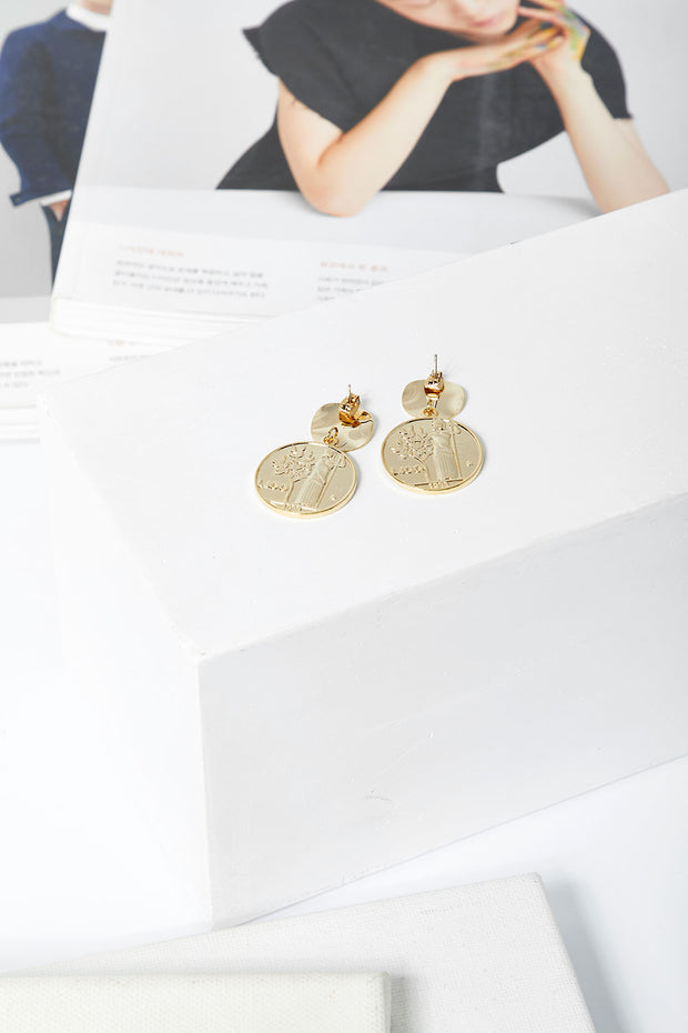 storets.com Coin Dangle Earrings