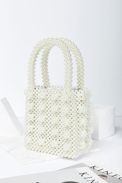 Pearl Beaded Tote Bag by STORETS