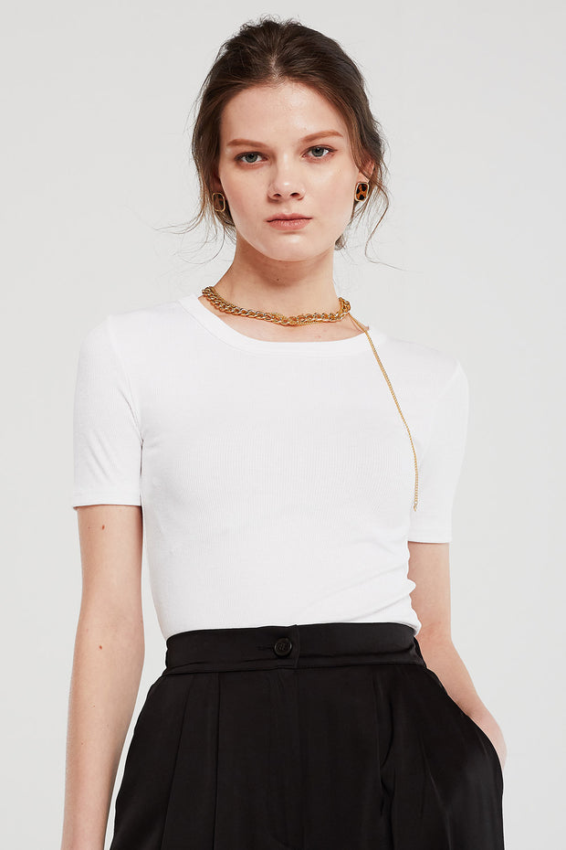 storets.com Kylie Ribbed Crop T-Shirt