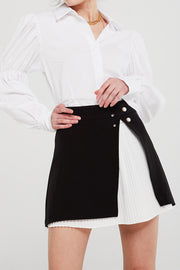 Gianna Pleated Overlay Skirt
