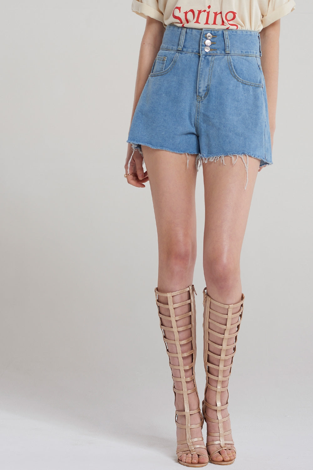 Zoe Flared Denim Shorts