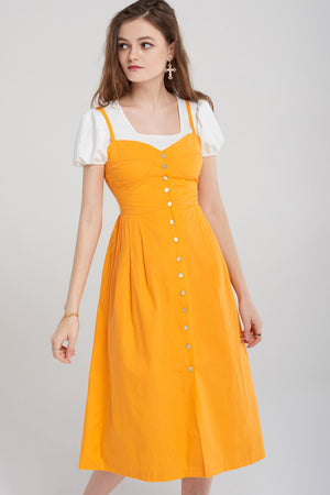 Jill Button Up Cotton Dress