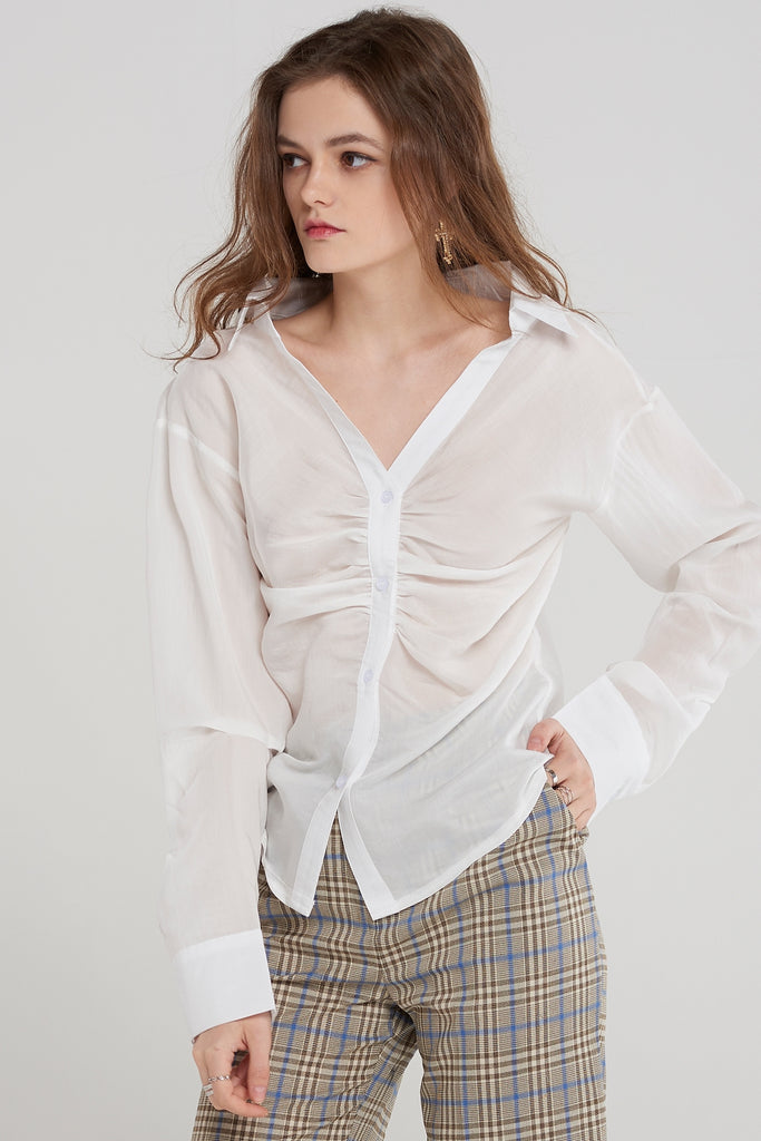 Claire Pinned Blouse