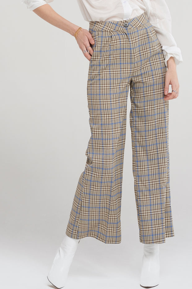 Jean Taylor Wide Check Pants