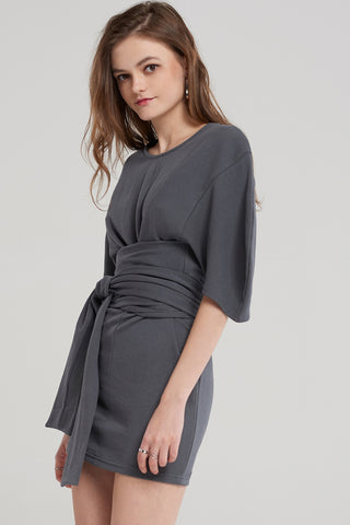 Natasa Loos Belt Dress