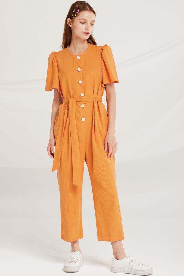 Kenley Flare Sleeve Jumpsuit by STORETS