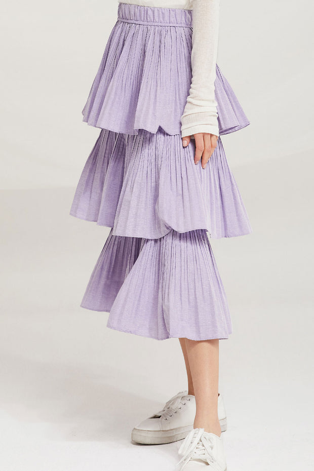 storets.com Sariyah Tiered Pleated Ruffle Skirt