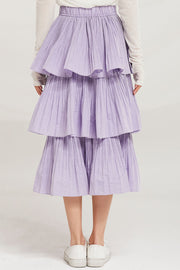 Sariyah Tiered Pleated Ruffle Skirt