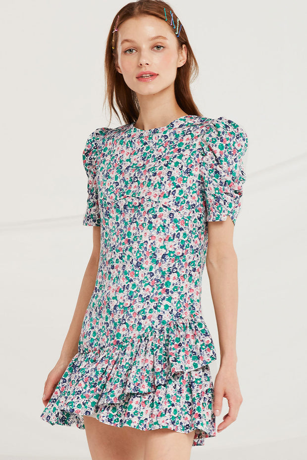 Noa Tulip Hem Floral Dress by STORETS
