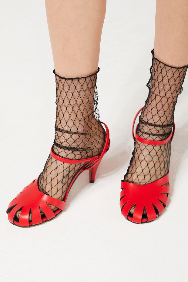 Round Toe Caged Heels by STORETS