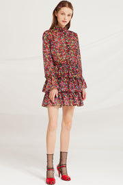 storets.com Belen Printed Tiered Ruffle Dress