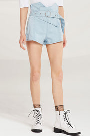 Harper Belted High Waist Shorts by STORETS