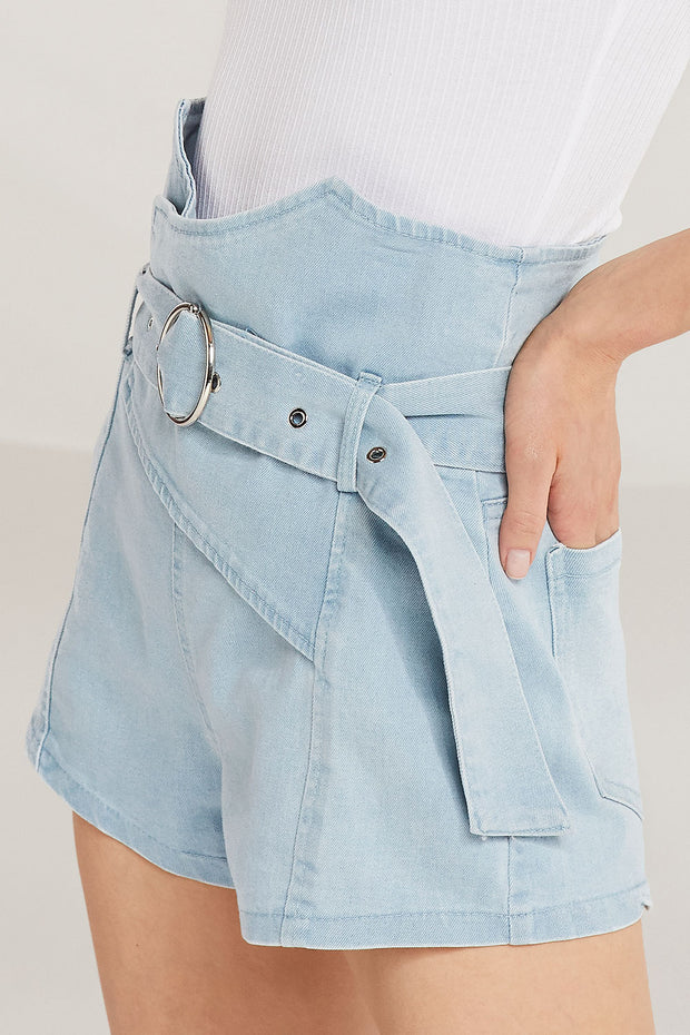 Harper Belted High Waist Shorts