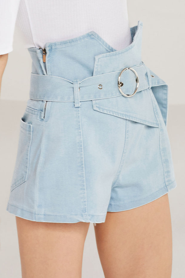 storets.com Harper Belted High Waist Shorts
