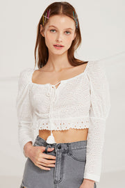 Landry Eyelet Lace Crop Top