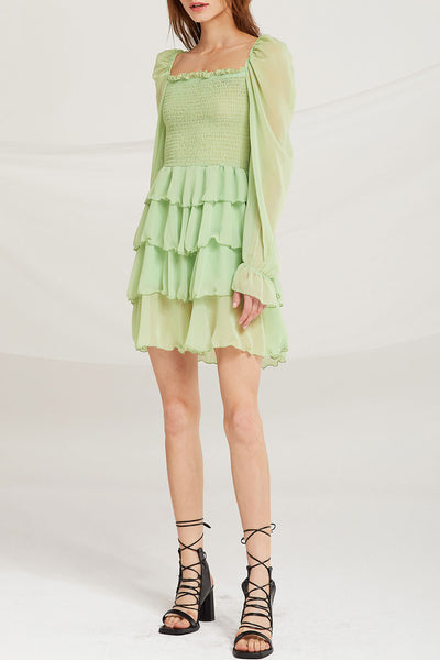Serenity Chiffon Tiered Ruffle Dress