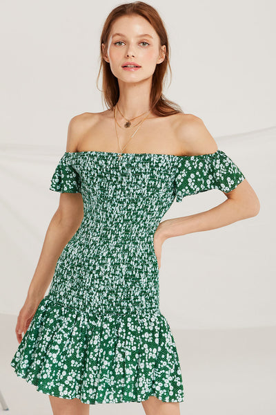 storets.com Marianna Smock Off Shoulder Dress