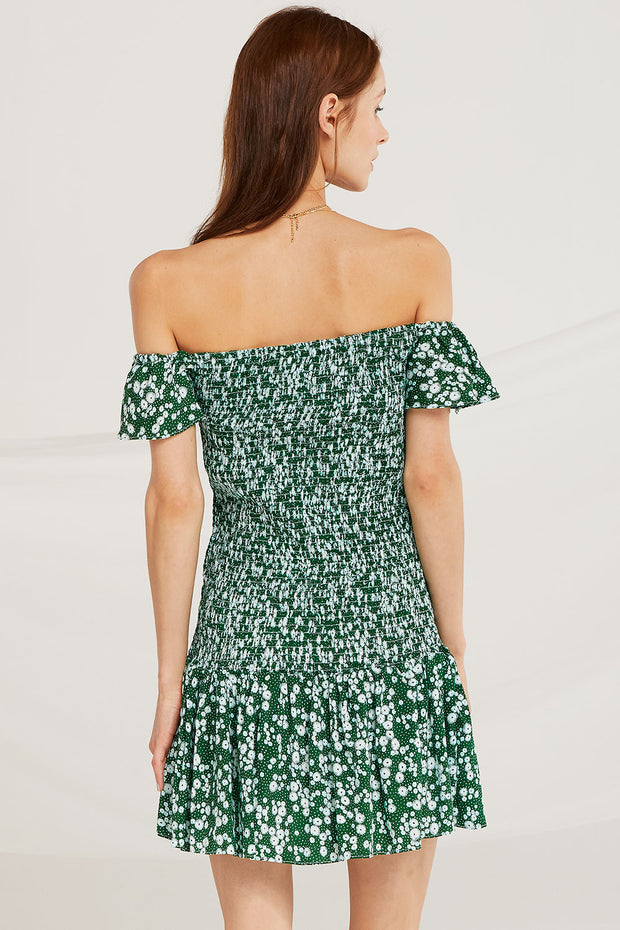 Marianna Smock Off Shoulder Dress
