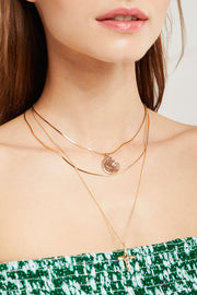 Coin & Cross Necklace Set by STORETS