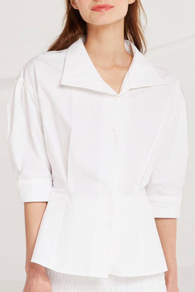 Alisha Puff Sleeve Shirt by STORETS
