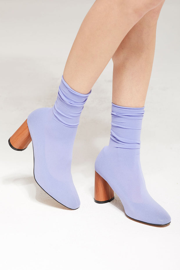 Socks Over Heeled Bootie